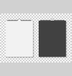 mockup square calendar with spiral mock up of vector image