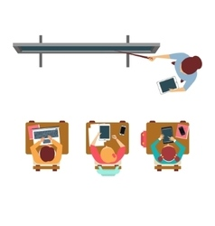 Modern Equipped Class From Above vector image
