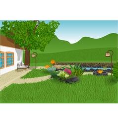Modern garden vector