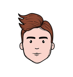 nice fece man with hairstyle vector image