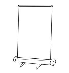 presentation stand vector image