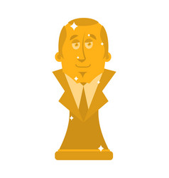 president of golden bust statuette is a big boss vector image