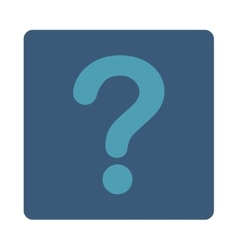 Question flat cyan and blue colors rounded button vector