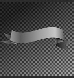 realistic shiny grey ribbon banner isolated vector image