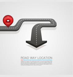 road location arrow on the white background vector image