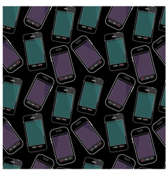 Seamless smartphones pattern vector image