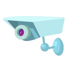 Security camera icon cartoon style vector