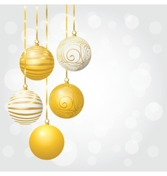 set christmas balls vector image