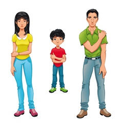Sick family vector