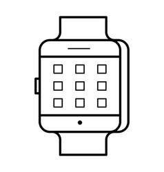 Smartwatch line art simple gadget icon vector
