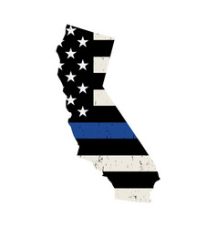 state california police support flag vector image