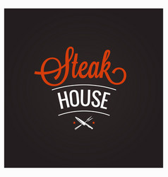 Steak grill bbq logo design background vector