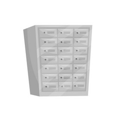 Steel safe deposit boxes bank vault metal vector