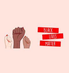 stop racism horizontal banner black lives matter vector image