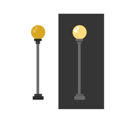 Street lamp urban lantern light flat vector