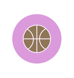Stylish icon in color circle basketball ball vector