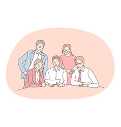 teamwork negotiations business communication vector image