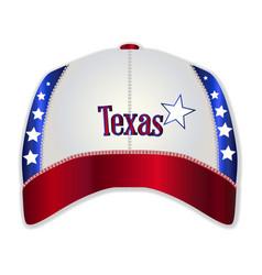 Texas baseball cap vector