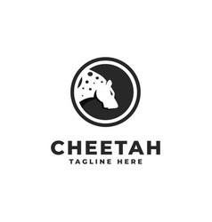 Tiger cheetah logo vector