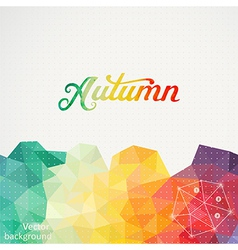 Triangle background with Autumn wa vector image