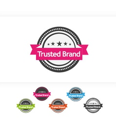 Trusted Brand icons vector image vector image