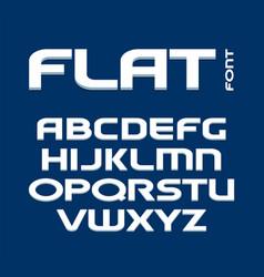 uppercase letters set rectangular flat font vector image