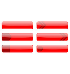 User interface red symbols web site menu elements vector