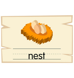 wordcard template for word nest vector image