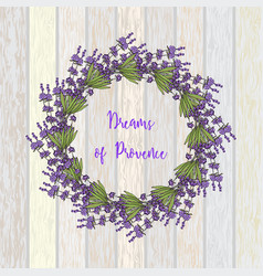 Wreath of lavender vector