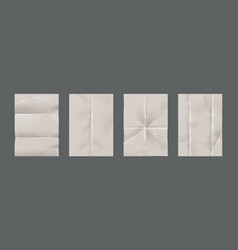 wrinkled paper realistic blank pages vector image