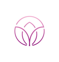 beauty abstract spa flower logo vector image