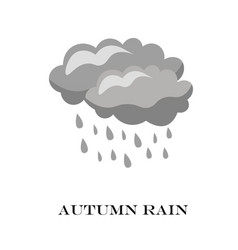 blue cloud rain icon isolated on background vector image vector image