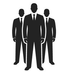 business team black icon leadership concept vector image vector image