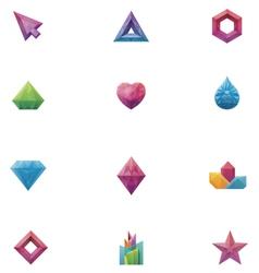 crystals set vector image vector image