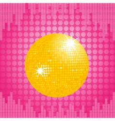 orange disco ball and equalizer vector image vector image