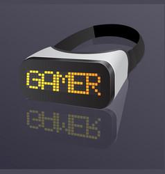 vr glasses smartphone for gamer vector image