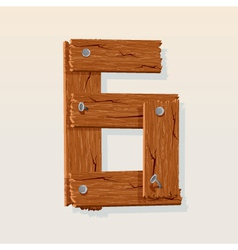 wooden type 6 vector image vector image