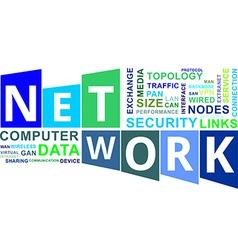word cloud network vector image