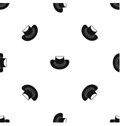 cowboy hat pattern seamless black vector image vector image