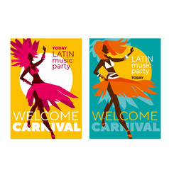 latin music carnival poster vector image