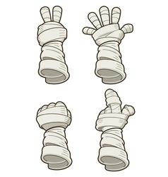 Mummy hand vector image vector image