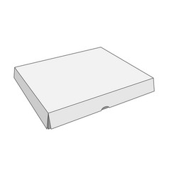 paper white box template vector image