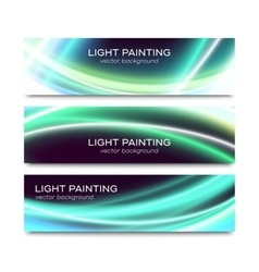 Set of horizontal banners for website or flyer vector image