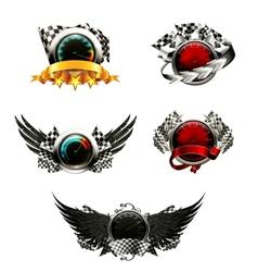 Set of racing emblems vector image vector image
