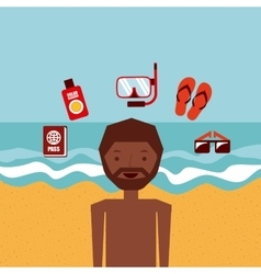 travel an people design vector image