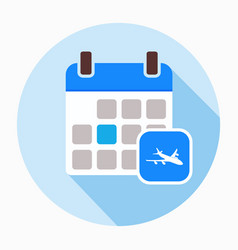 airplane calendar icon vector image
