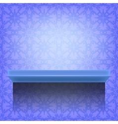 Blue wall shelf vector