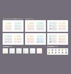 business infographics ui navigation elements vector image