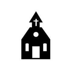 church black silhouette icon on white vector image