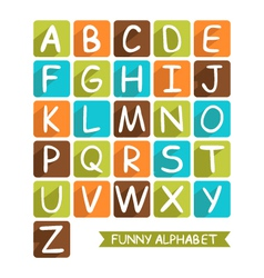 funny alphabet for children vector image